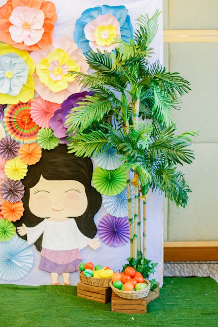 Philippines Girl Backdrop from a Filipiniana Inspired Birthday Party on Kara's Party Ideas | KarasPartyIdeas.com (23)