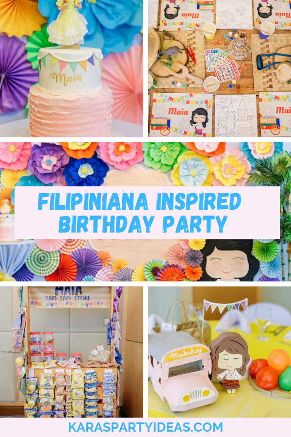 Filipiniana Inspired Birthday Party via Kara's Party Ideas - KarasPartyIdeas.com