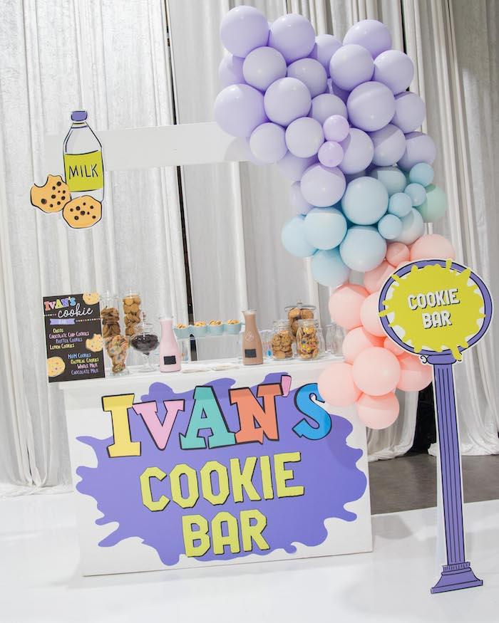 Cookie Bar from a Fun House Birthday Party on Kara's Party Ideas | KarasPartyIdeas.com (40)
