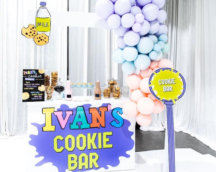 Cookie Bar from a Fun House Birthday Party on Kara's Party Ideas | KarasPartyIdeas.com (12)