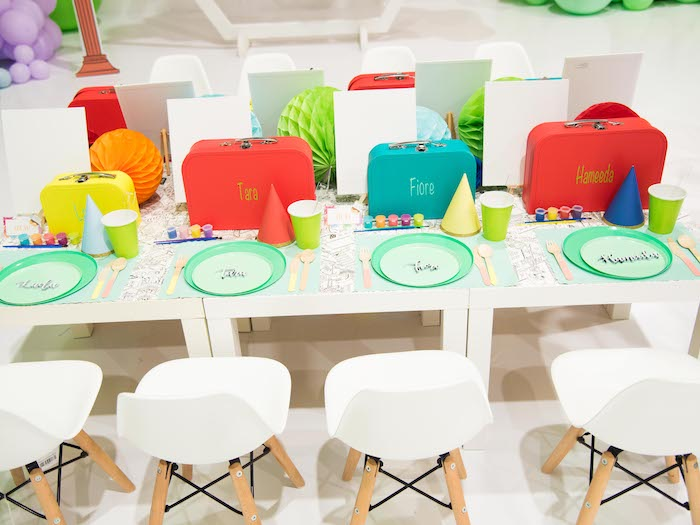 Guest Table from a Fun House Birthday Party on Kara's Party Ideas | KarasPartyIdeas.com (11)