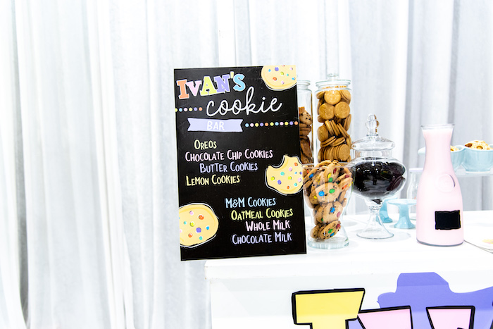 Cookie Bar Chalkboard Sign from a Fun House Birthday Party on Kara's Party Ideas | KarasPartyIdeas.com (9)
