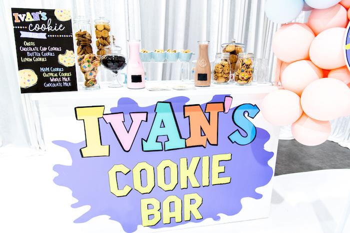 Cookie Bar from a Fun House Birthday Party on Kara's Party Ideas | KarasPartyIdeas.com (8)