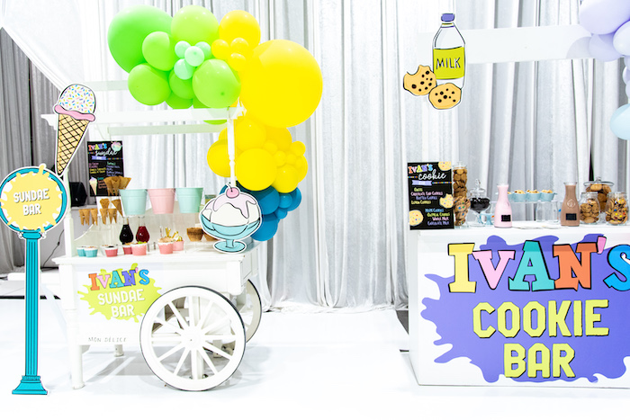 Dessert Stands from a Fun House Birthday Party on Kara's Party Ideas | KarasPartyIdeas.com (7)