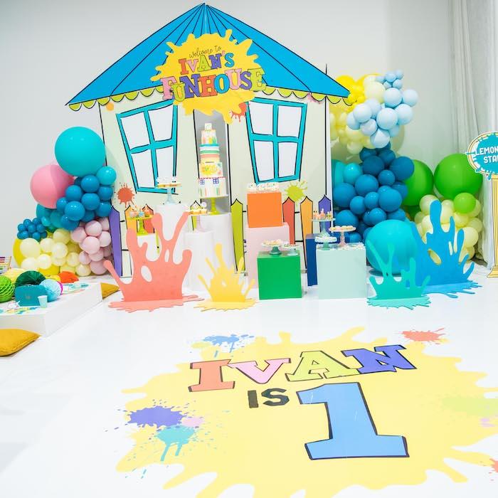 Fun House Birthday Party on Kara's Party Ideas | KarasPartyIdeas.com (6)