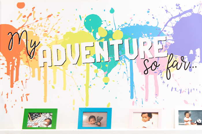 Paint Splatter Adventure Backdrop from a Fun House Birthday Party on Kara's Party Ideas | KarasPartyIdeas.com (3)