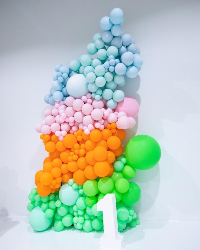 Giant Balloon Installation from a Fun House Birthday Party on Kara's Party Ideas | KarasPartyIdeas.com (38)