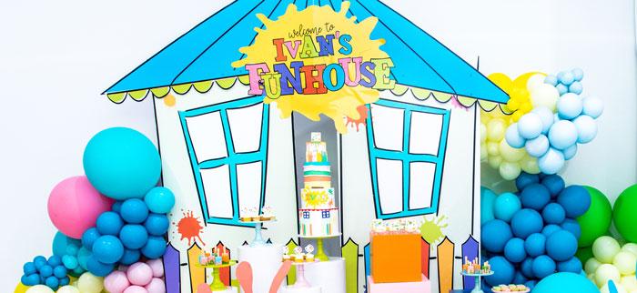 Fun House Birthday Party on Kara's Party Ideas | KarasPartyIdeas.com (1)