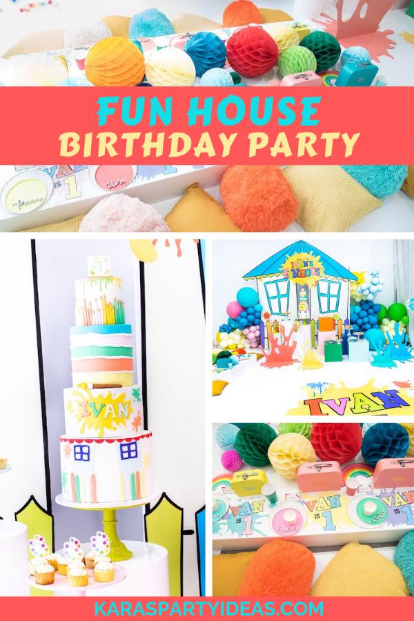 Fun House Birthday Party via Kara's Party Ideas - KarasPartyIdeas.com