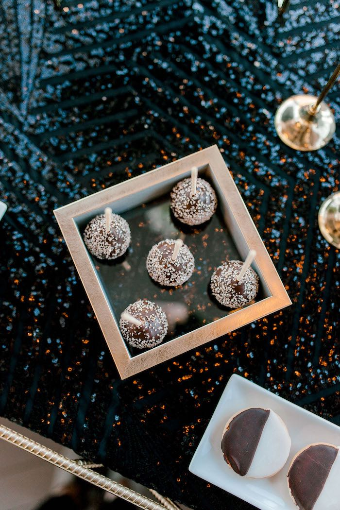 Sprinkled Chocolate Pops from a Gatsby Inspired 40th Birthday Party on Kara's Party Ideas | KarasPartyIdeas.com (22)
