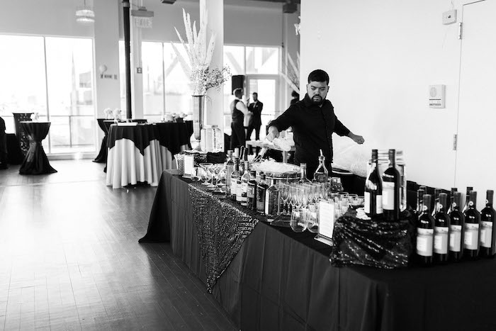 Roaring 20's-inspired Beverage Bar from a Gatsby Inspired 40th Birthday Party on Kara's Party Ideas | KarasPartyIdeas.com (15)