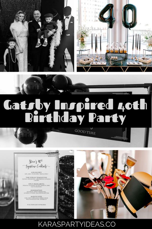 Gatsby Inspired 40th Birthday Party via Kara's Party Ideas - KarasPartyIdeas.com