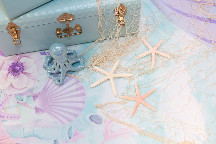 Netting & Starfish from a Glamorous Mermaid Birthday Party on Kara's Party Ideas | KarasPartyIdeas.com (6)