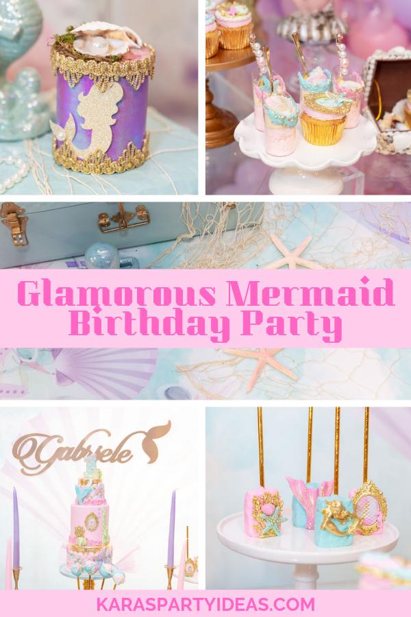 Glamorous Mermaid Birthday Party via Kara's Party Ideas - KarasPartyIdeas.com