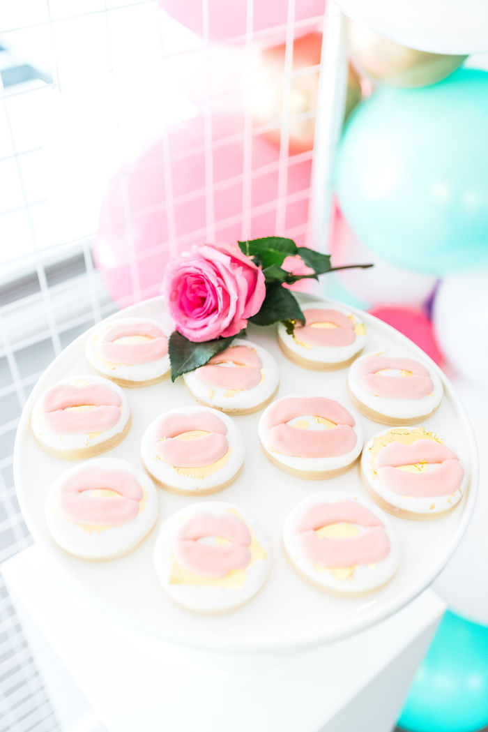 Glam Lip Cookies from a Kylie Jenner Inspired Fashion Birthday Party on Kara's Party Ideas | KarasPartyIdeas.com (37)