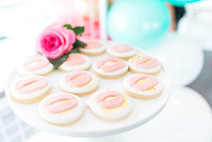 Glam Lip Cookies from a Kylie Jenner Inspired Fashion Birthday Party on Kara's Party Ideas | KarasPartyIdeas.com (36)