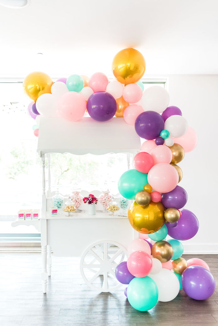 Popcorn + Candy Cart from aKylie Jenner Inspired Fashion Birthday Party on Kara's Party Ideas | KarasPartyIdeas.com (35)
