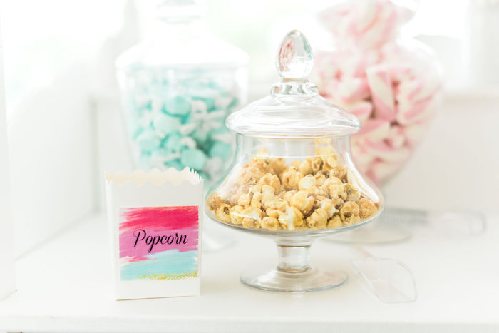 Popcorn Bar from a Kylie Jenner Inspired Fashion Birthday Party on Kara's Party Ideas | KarasPartyIdeas.com (33)
