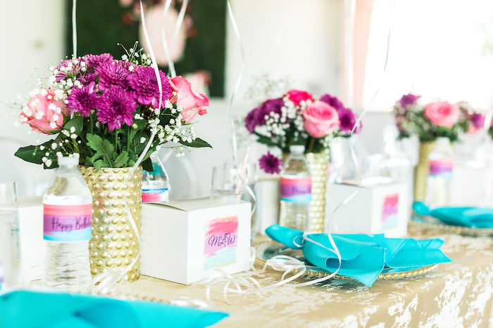 Table Settings from a Kylie Jenner Inspired Fashion Birthday Party on Kara's Party Ideas | KarasPartyIdeas.com (28)
