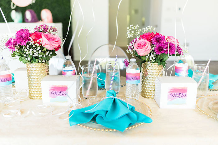 Table Setting from a Kylie Jenner Inspired Fashion Birthday Party on Kara's Party Ideas | KarasPartyIdeas.com (27)