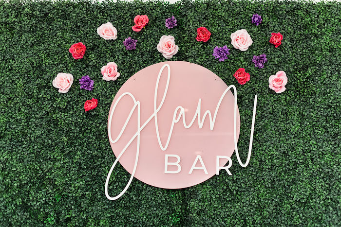 Acrylic Glam Bar Backdrop Sign from a Kylie Jenner Inspired Fashion Birthday Party on Kara's Party Ideas | KarasPartyIdeas.com (25)