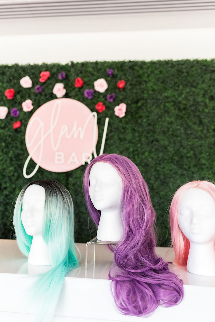 Brightly Colored Wigs from a Kylie Jenner Inspired Fashion Birthday Party on Kara's Party Ideas | KarasPartyIdeas.com (22)