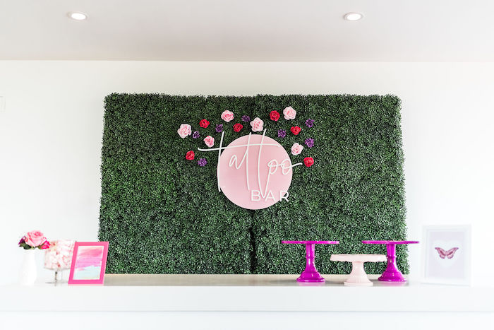 Tattoo Bar from a Kylie Jenner Inspired Fashion Birthday Party on Kara's Party Ideas | KarasPartyIdeas.com (21)