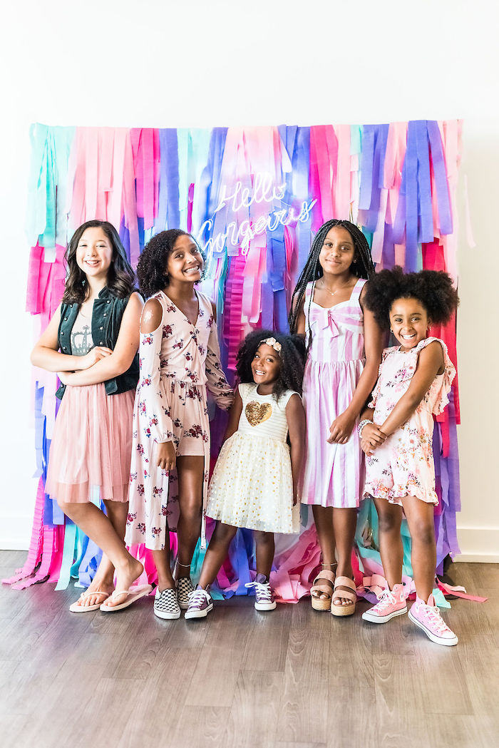 Hello Gorgeous Tassel Photo Booth from a Kylie Jenner Inspired Fashion Birthday Party on Kara's Party Ideas | KarasPartyIdeas.com (13)