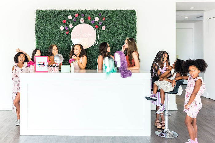 Glam Bar from a Kylie Jenner Inspired Fashion Birthday Party on Kara's Party Ideas | KarasPartyIdeas.com (11)