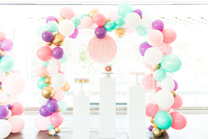 Lip Bar Dessert Spread from a Kylie Jenner Inspired Fashion Birthday Party on Kara's Party Ideas | KarasPartyIdeas.com (47)