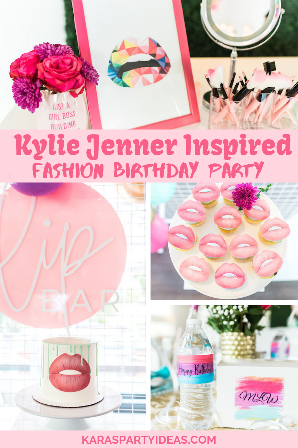 Kylie Jenner Inspired Fashion Birthday Party via Kara's Party Ideas - KarasPartyIdeas.com