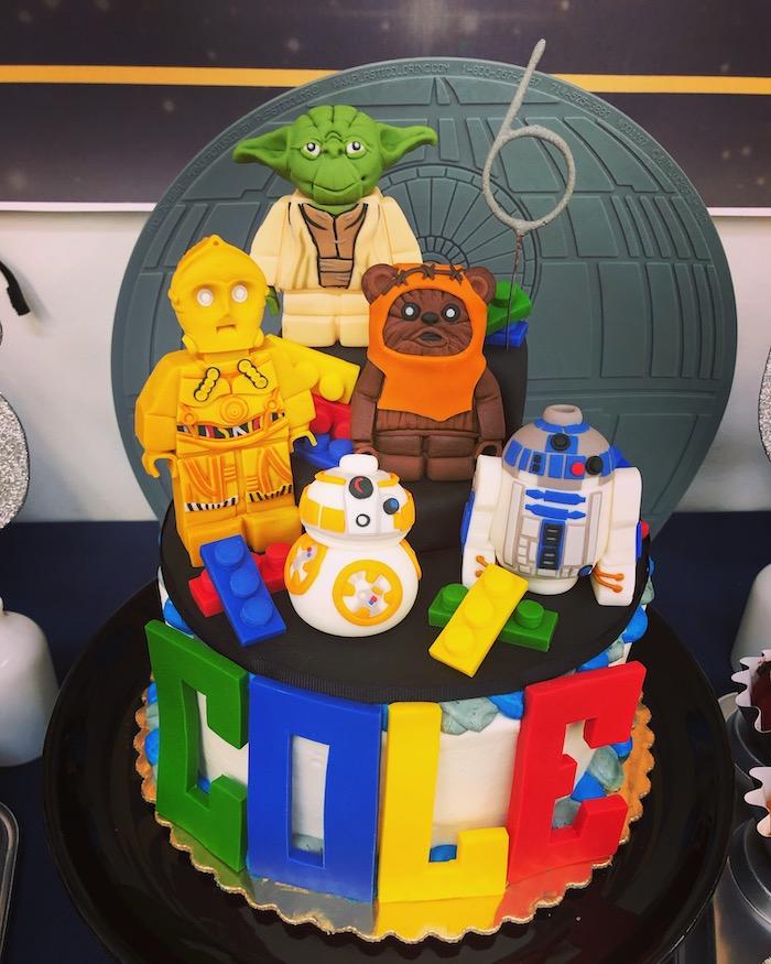 LEGO Star Wars Cake from a LEGO Star Wars Birthday Party on Kara's Party Ideas | KarasPartyIdeas.com (7)