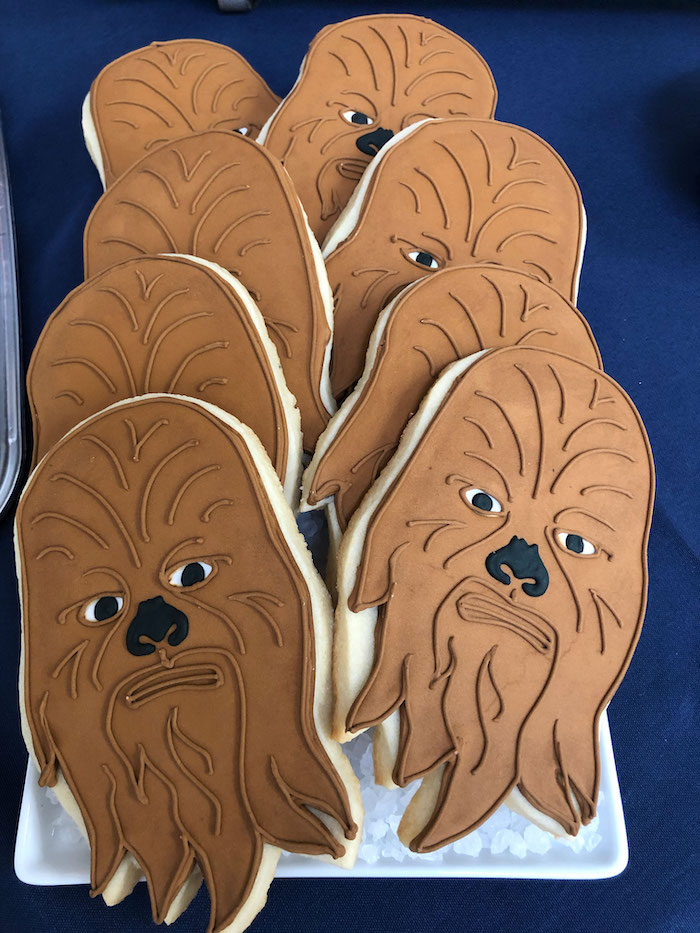 Chewbacca Cookies from a LEGO Star Wars Birthday Party on Kara's Party Ideas | KarasPartyIdeas.com (20)