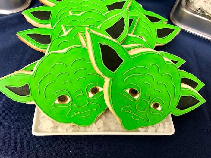 Yoda Cookies from a LEGO Star Wars Birthday Party on Kara's Party Ideas | KarasPartyIdeas.com (19)