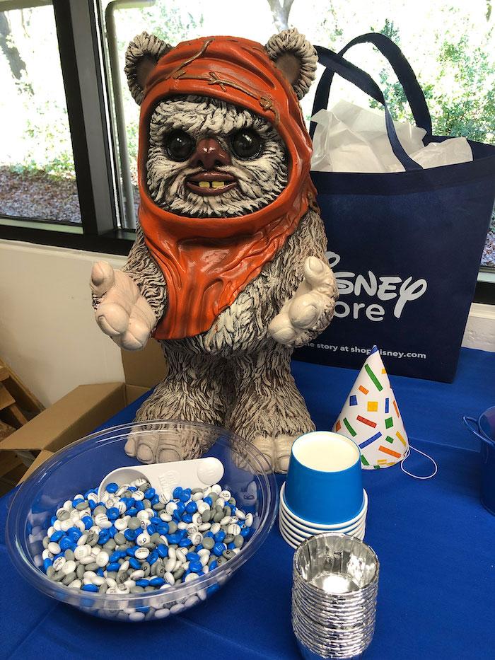 Ewok M&M Candy Station from a LEGO Star Wars Birthday Party on Kara's Party Ideas | KarasPartyIdeas.com (18)