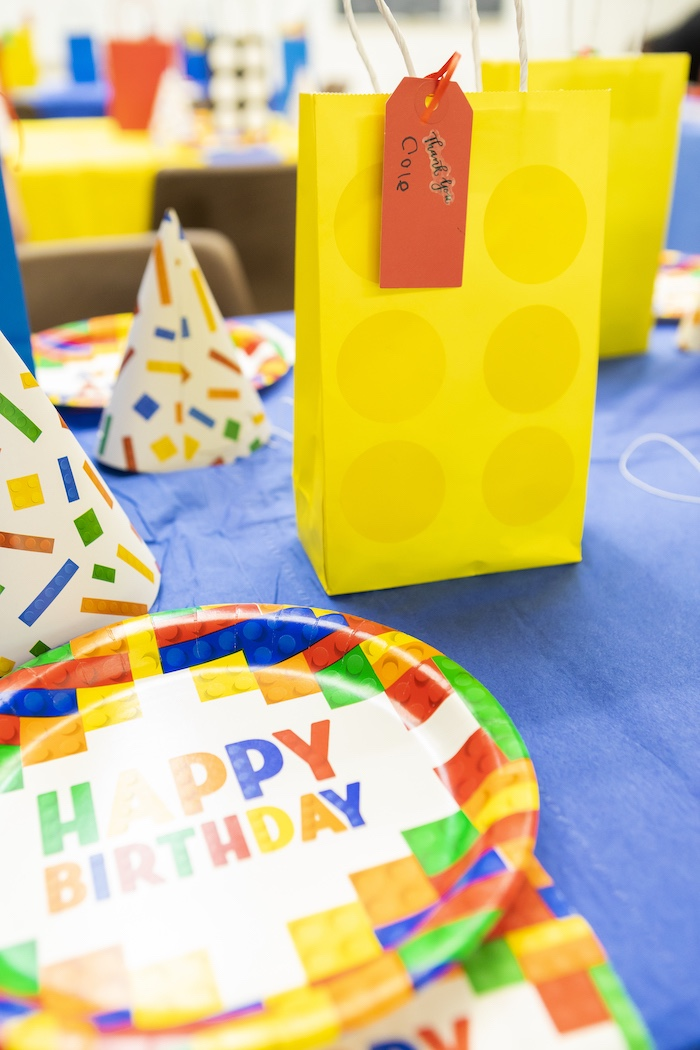 LEGO Partyware + Favor Sack from a LEGO Star Wars Birthday Party on Kara's Party Ideas | KarasPartyIdeas.com (17)