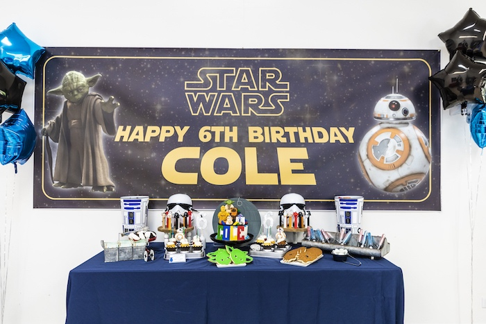 Star Wars Themed Dessert Table from a LEGO Star Wars Birthday Party on Kara's Party Ideas | KarasPartyIdeas.com (15)