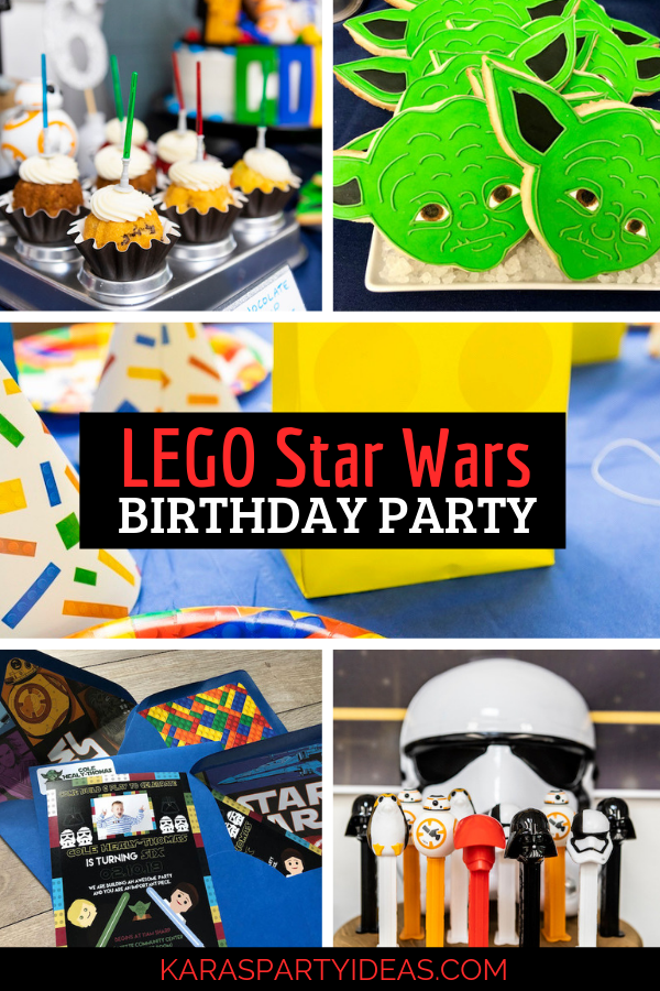 LEGO Star Wars Birthday Party via Kara's Party Ideas - KarasPartyIdeas.com