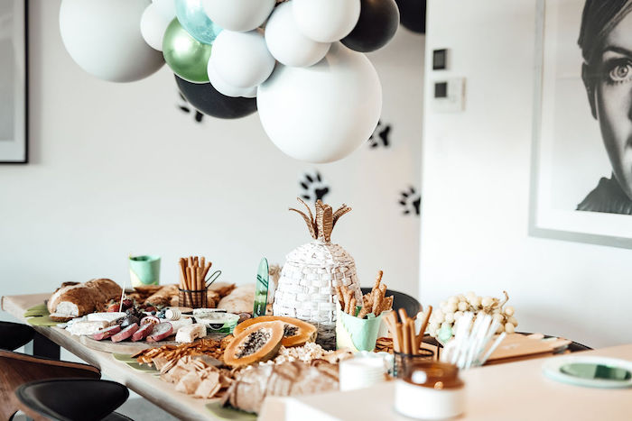 Grazing Table from a Modern Minimal Wild & Three Birthday Party on Kara's Party Ideas | KarasPartyIdeas.com (22)