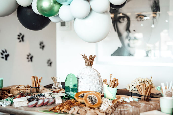 Grazing Table from a Modern Minimal Wild & Three Birthday Party on Kara's Party Ideas | KarasPartyIdeas.com (18)