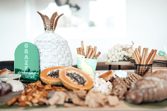 Grazing Table from a Modern Minimal Wild & Three Birthday Party on Kara's Party Ideas | KarasPartyIdeas.com (15)