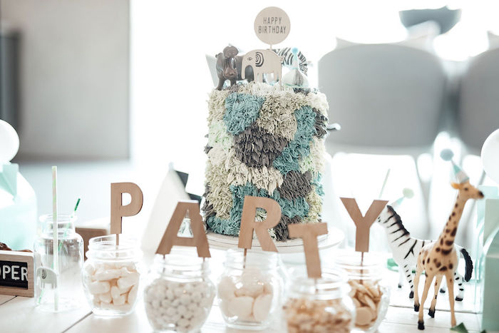 Modern Minimal Wild & Three Birthday Party on Kara's Party Ideas | KarasPartyIdeas.com (32)