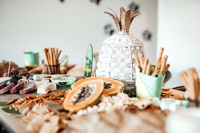 Grazing Table from a Modern Minimal Wild & Three Birthday Party on Kara's Party Ideas | KarasPartyIdeas.com (13)