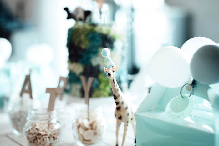 Giraffe Prop from a Modern Minimal Wild & Three Birthday Party on Kara's Party Ideas | KarasPartyIdeas.com (27)