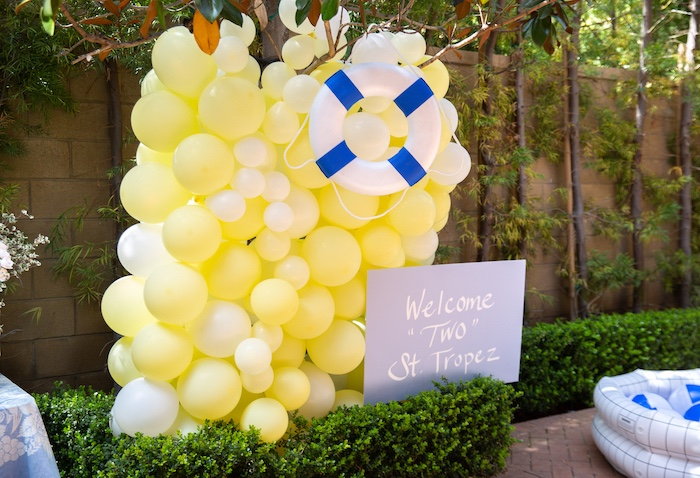Nautical Balloon Wall Welcome from a Nautical Sesame Street Birthday Party on Kara's Party Ideas | KarasPartyIdeas.com (22)