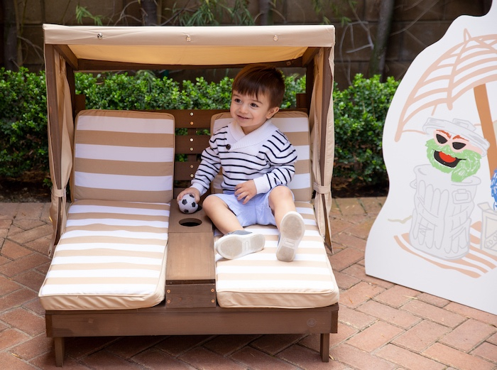 Kid Beach Loungers from a Nautical Sesame Street Birthday Party on Kara's Party Ideas | KarasPartyIdeas.com (19)