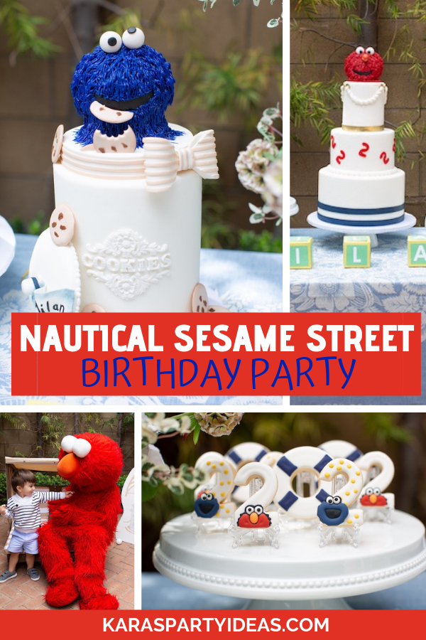 Nautical Sesame Street Birthday Party via Kara's Party Ideas - KarasPartyIdeas.com