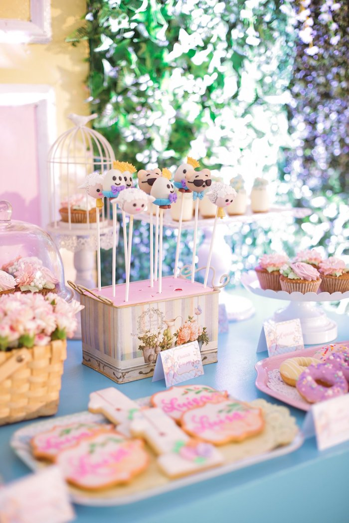 Nursery Rhyme-inspired Dessert Table from a Nursery Rhyme Birthday Party on Kara's Party Ideas | KarasPartyIdeas.com (26)