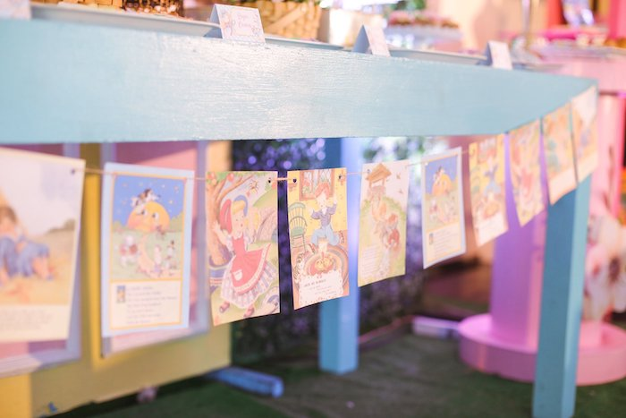 Nursery Rhyme Storybook Banner from a Nursery Rhyme Birthday Party on Kara's Party Ideas | KarasPartyIdeas.com (14)