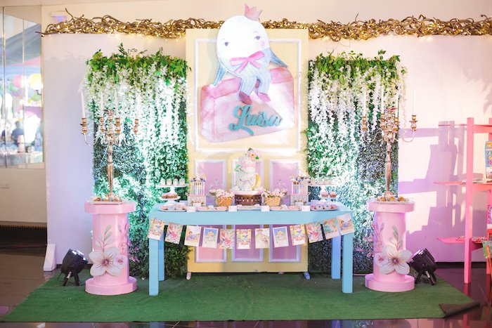Nursery Rhyme-inspired Dessert Table from a Nursery Rhyme Birthday Party on Kara's Party Ideas | KarasPartyIdeas.com (12)